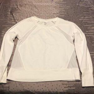 Old Navy Crewneck Sweatshirt In Bright White &Mesh